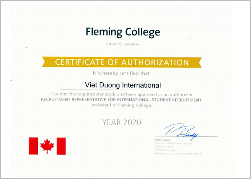 Certificate- Fleming College
